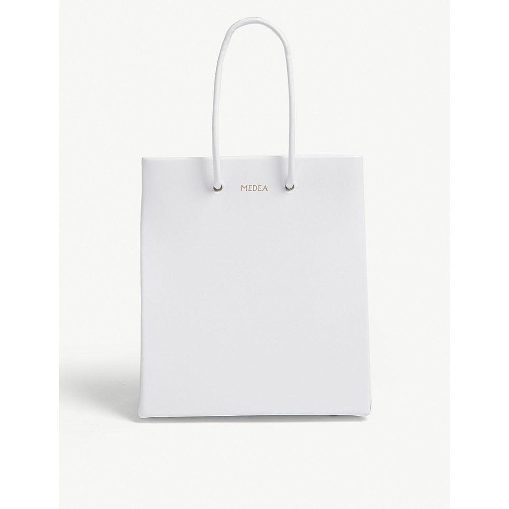 54571b41e291 メデア レディース バッグ トートバッグ【small leather box tote】White, Miz:72e9fab6 ---  radiosucre.com.ec