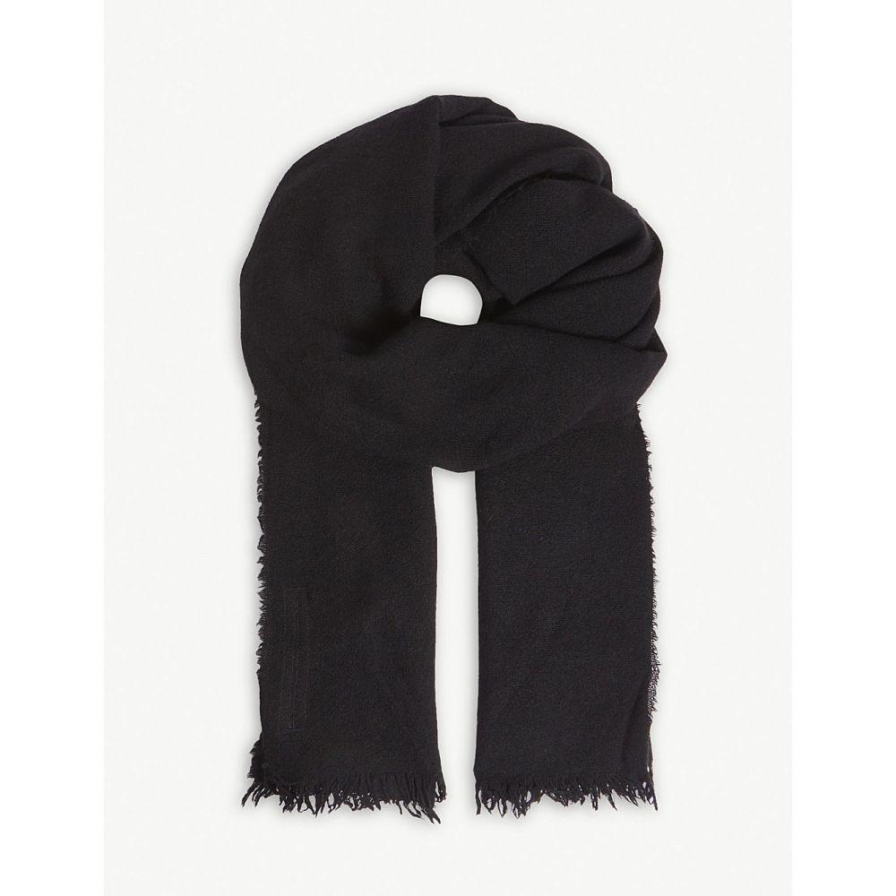 リック オウエンス メンズ マフラー・スカーフ・ストール【ideal cashmere stole】Black