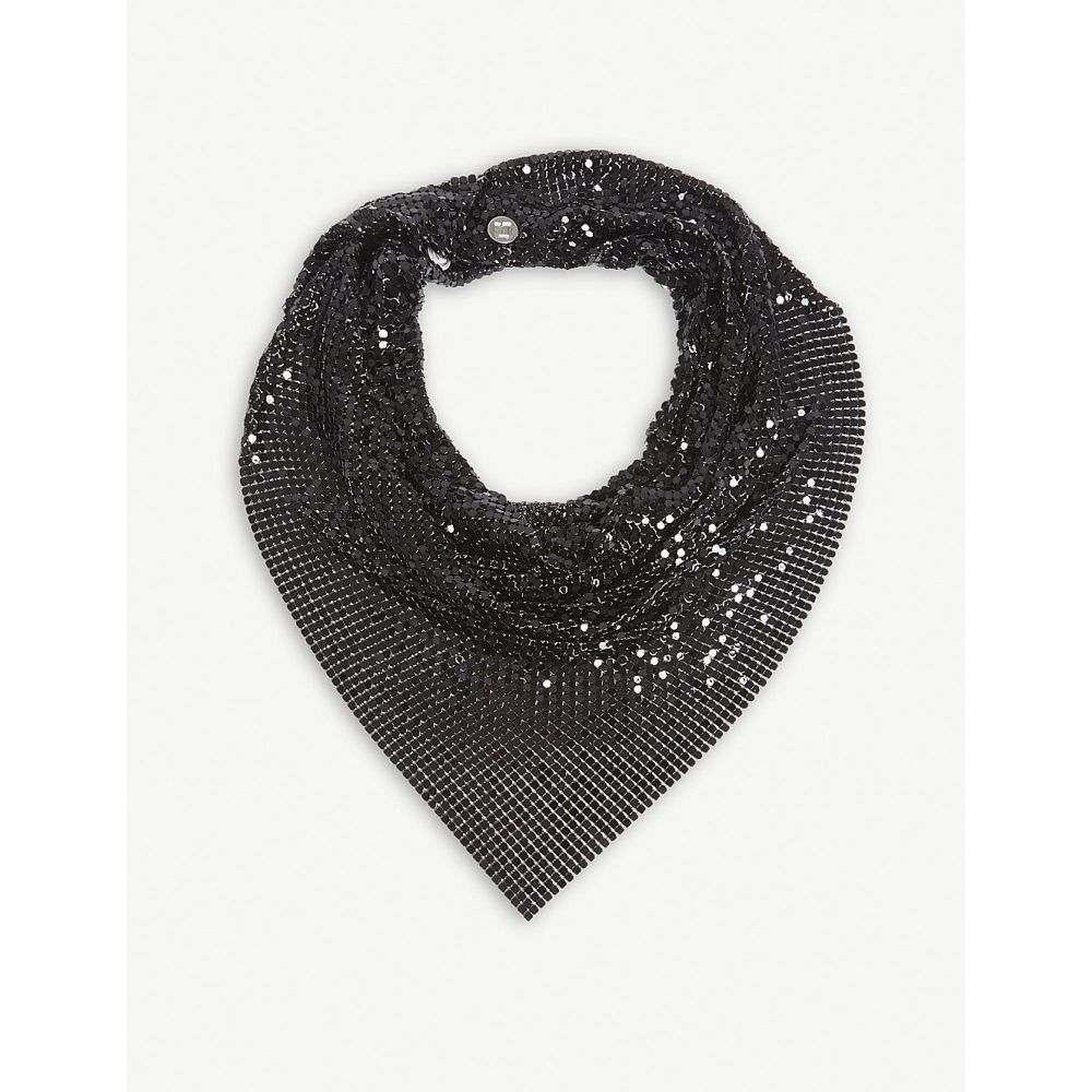 パコラバンヌ レディース マフラー・スカーフ・ストール【mesh scarf】Black