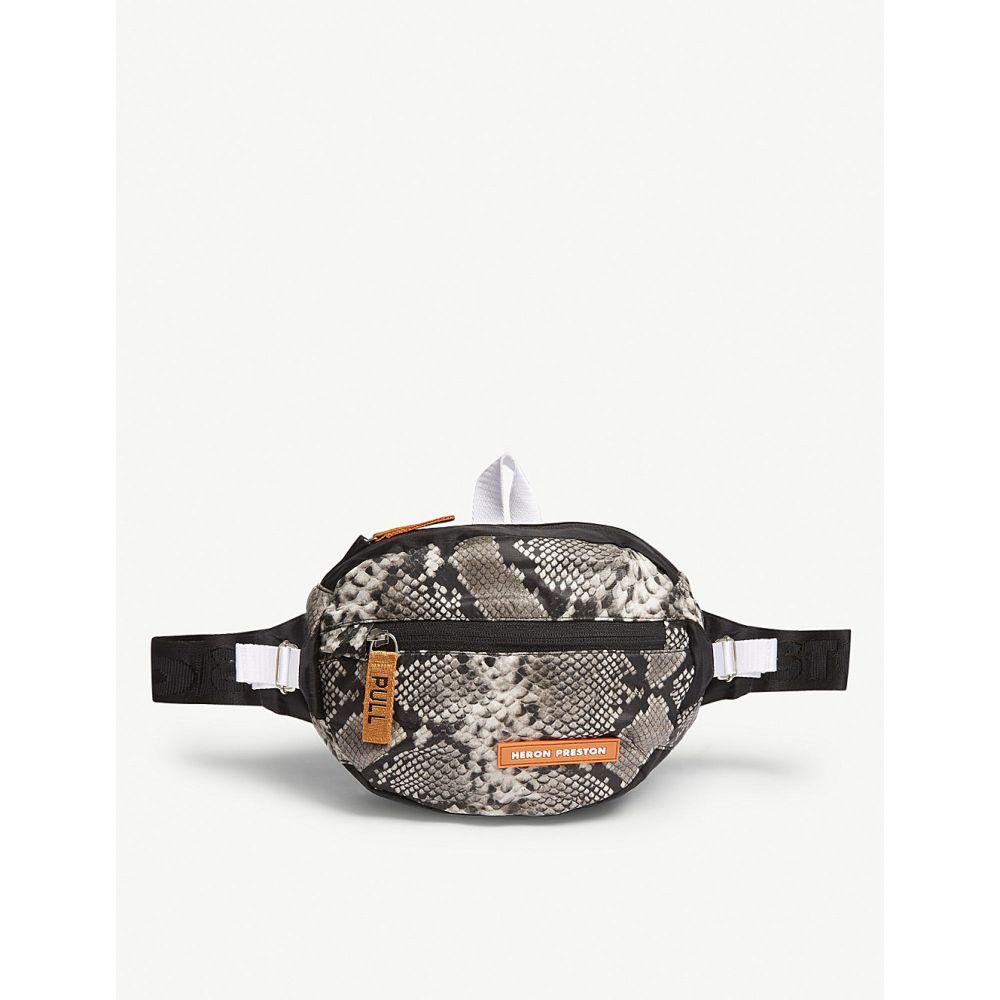 ヘロン プレストン メンズ バッグ ボディバッグ・ウエストポーチ【snakeskin-print belt bag】Python