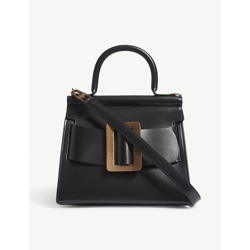 ボーイ レディース バッグ ショルダーバッグ【karl leather shoulder bag】Black