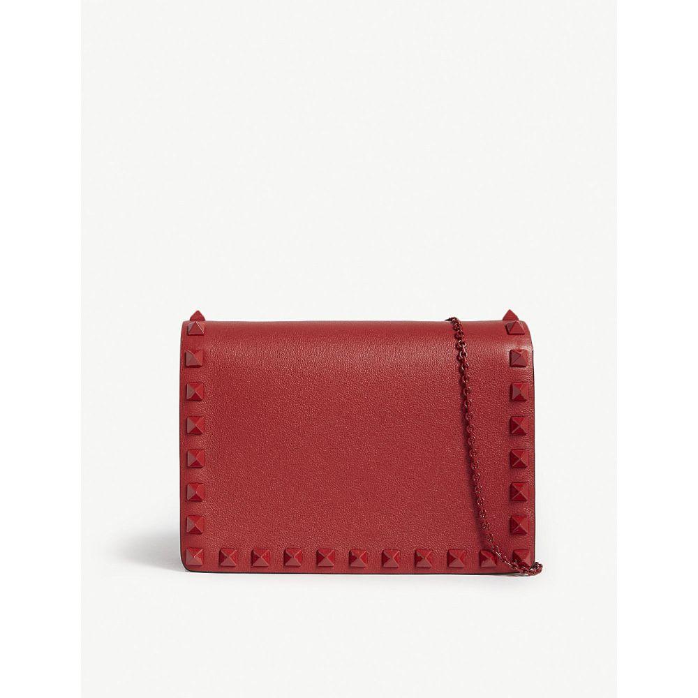 ヴァレンティノ レディース バッグ ショルダーバッグ【rockstud nappa leather cross-body bag】Red/red