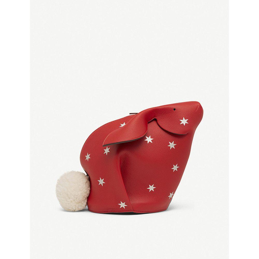 ロエベ レディース バッグ【stars bunny leather mini bag】Scarlet red/silver
