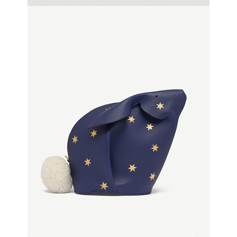 ロエベ レディース バッグ【stars bunny leather mini bag】Royal blue/gold