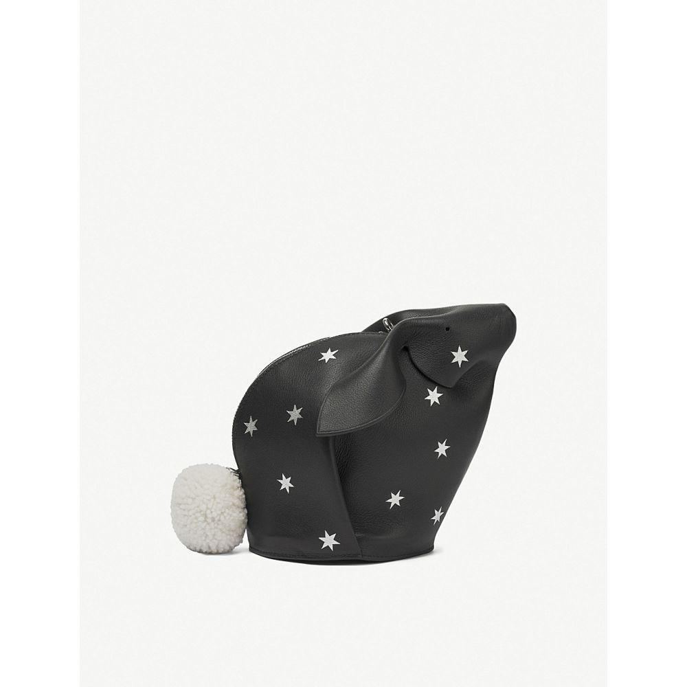 ロエベ レディース バッグ【stars bunny leather mini bag】Black/silver