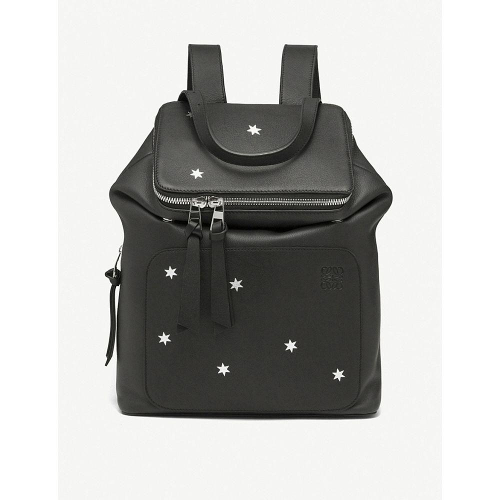 ロエベ レディース バッグ バックパック・リュック【goya stars small leather backpack】Black/silver