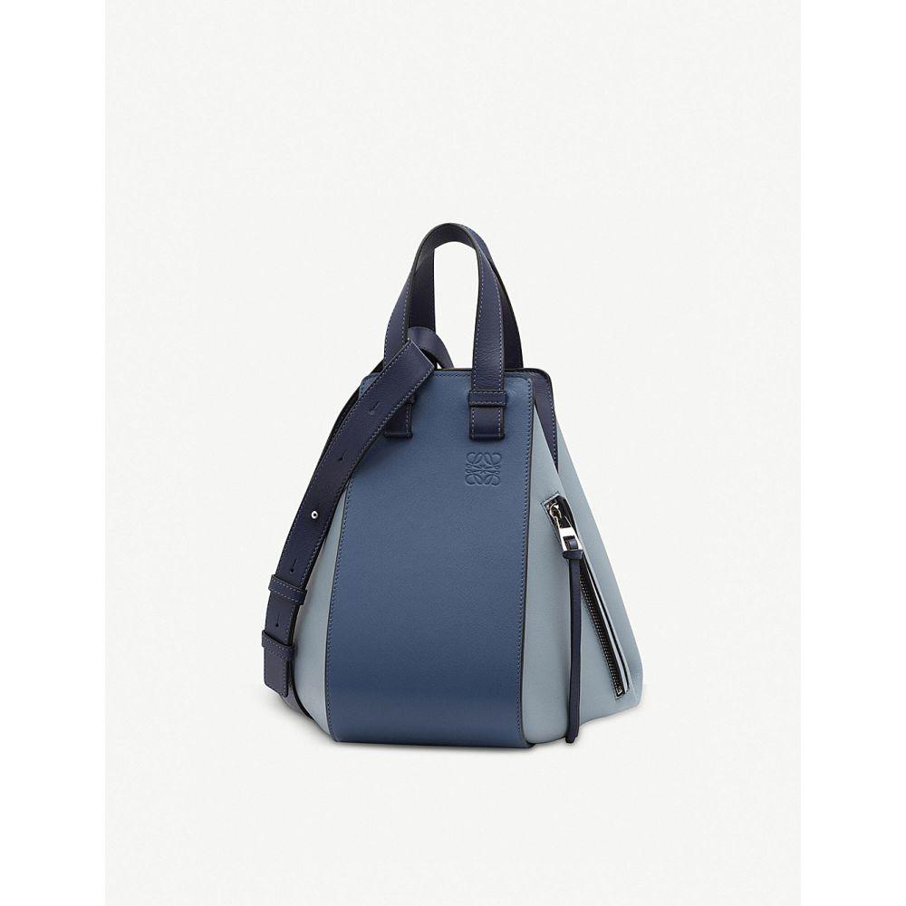 ロエベ レディース バッグ ハンドバッグ【hammock small leather handbag】Varsity blue multito