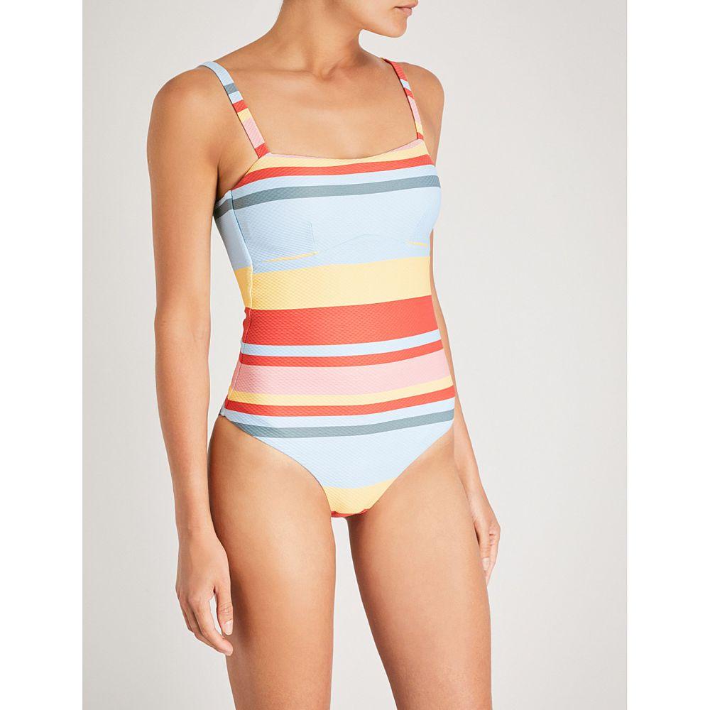 アッセーノ レディース 水着・ビーチウェア ワンピース【striped bandeau swimsuit】Multi bold stripe