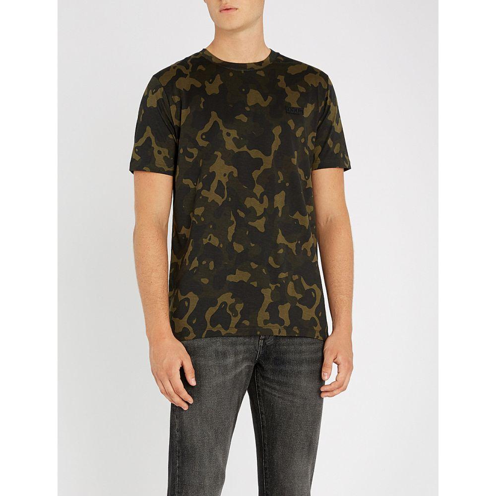 ヒューゴ ボス メンズ トップス Tシャツ【camouflage-print cotton-jersey t-shirt】Open miscellaneous