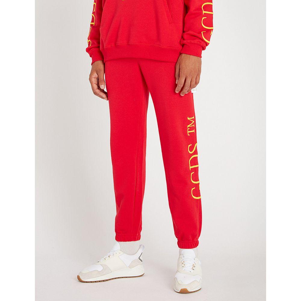 ジーシーディーエス メンズ ボトムス・パンツ【relaxed-fit cotton-jersey jogging bottoms】Red