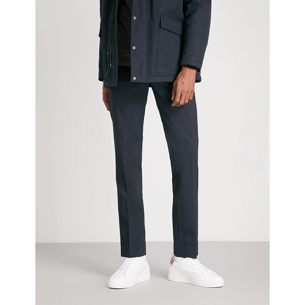 サンドロ メンズ ボトムス・パンツ スラックス【cropped high-rise wool-blend trousers】Marine