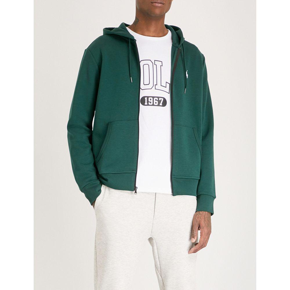 ラルフ ローレン メンズ トップス パーカー【logo-embroidered tech-jersey hoody】College green