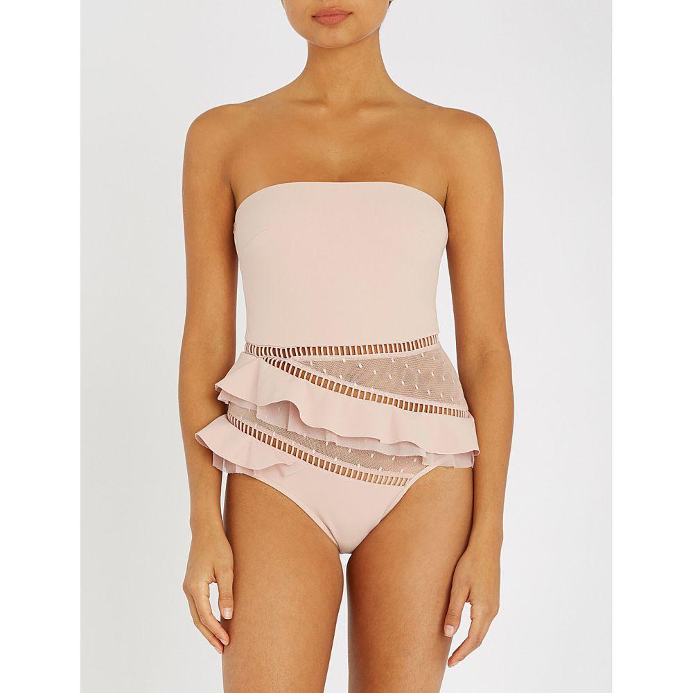ジマーマン レディース 水着・ビーチウェア ワンピース【bayou strapless ruffled swimsuit】Nude