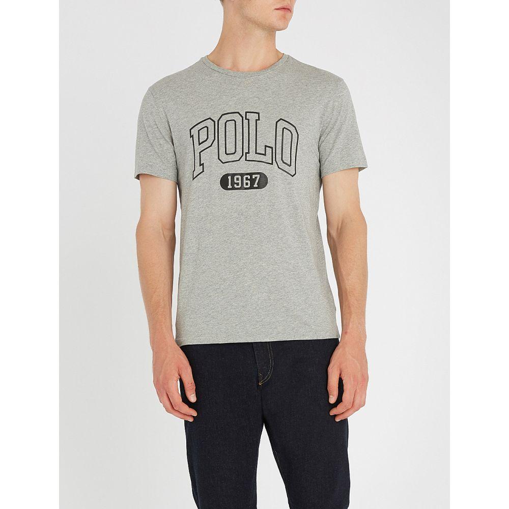 ラルフ ローレン メンズ トップス Tシャツ【logo-print cotton-jersey t-shirt】Andover heather