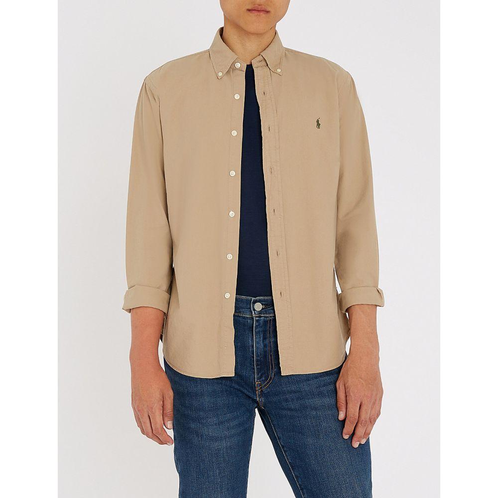ラルフ ローレン メンズ トップス シャツ【slim-fit cotton shirt】Surrey tan