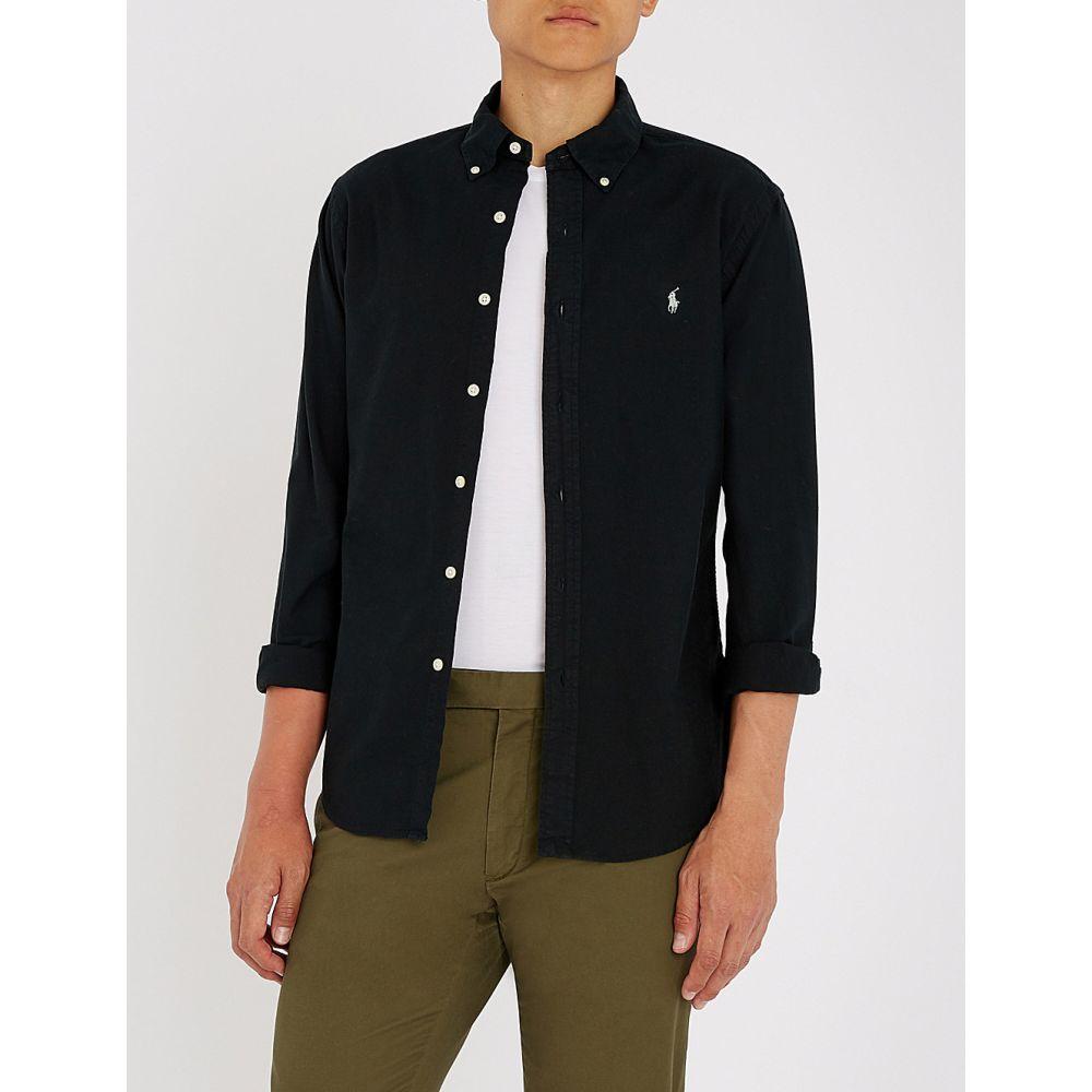 ラルフ ローレン メンズ トップス シャツ【slim-fit cotton shirt】Polo black