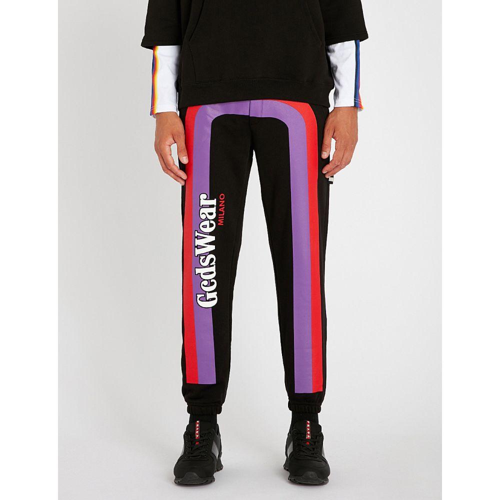 ジーシーディーエス メンズ ボトムス・パンツ【relaxed-fit cotton-jersey jogging bottoms】Black