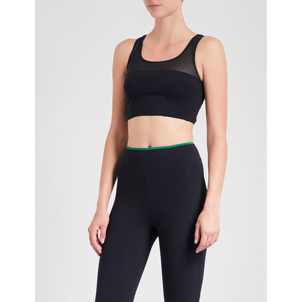 サポパ レディース インナー・下着 スポーツブラ【elif mesh-panelled stretch-jersey sports bra】Black