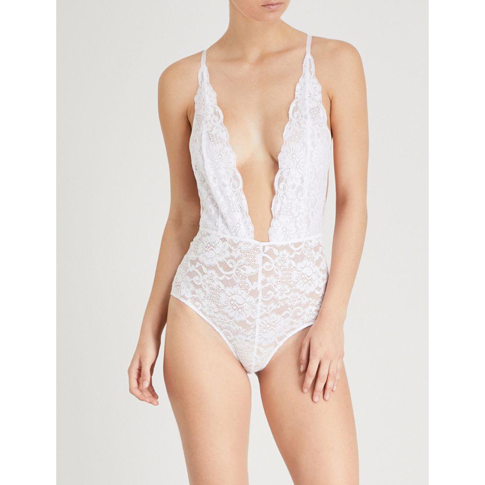 ホットアズヘル レディース インナー・下着 ボディースーツ【comin in haht stretch-lace bodysuit】Blanc