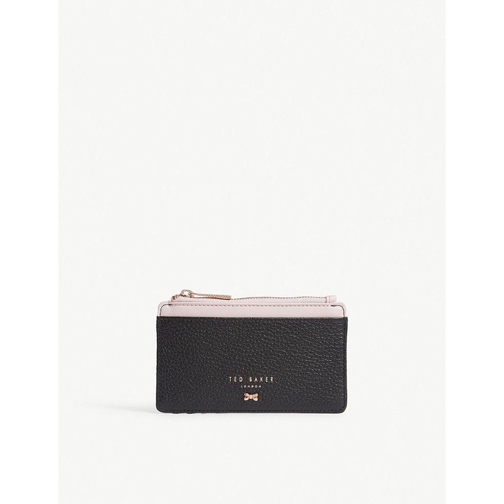 テッドベーカー レディース カードケース・名刺入れ【lori textured leather card holder】Black
