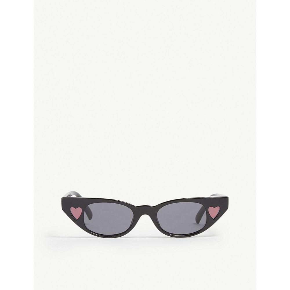 ル スペックス レディース メガネ・サングラス【the heartbreaker cat-eye-frame sunglasses】Black