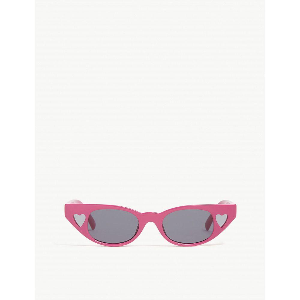 ル スペックス レディース メガネ・サングラス【the heartbreaker cat-eye-frame sunglasses】Hot pants pink