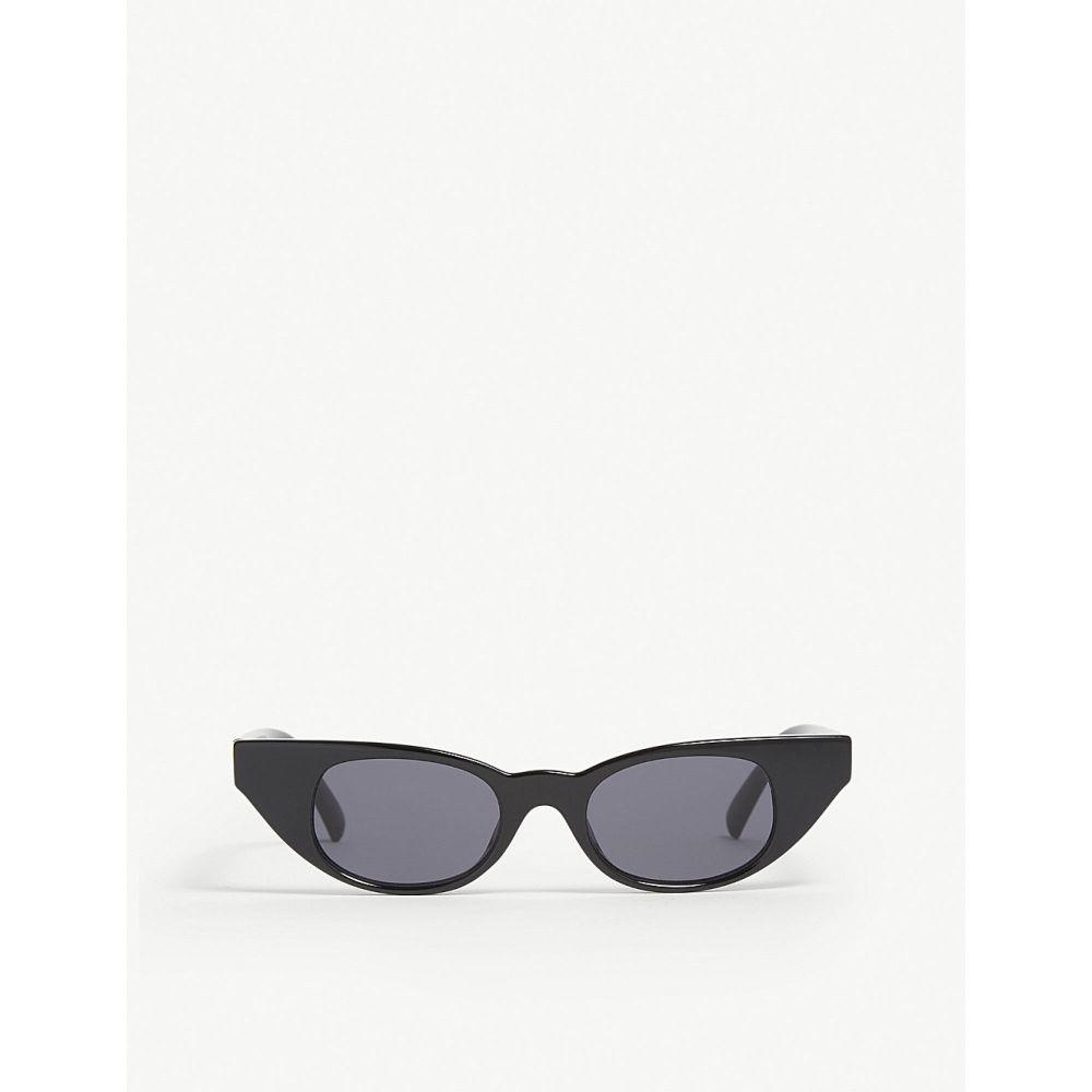 ル スペックス レディース メガネ・サングラス【the breaker cat-eye-frame sunglasses】Black