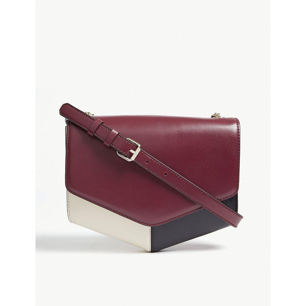 サンドロ レディース バッグ ショルダーバッグ【lou leather cross-body bag】Prune noir ecru