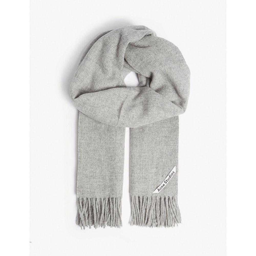 アクネ ストゥディオズ レディース マフラー・スカーフ・ストール【fringed wool scarf】Light grey melange