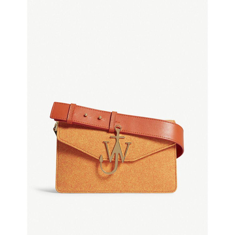 J.W.アンダーソン レディース バッグ ショルダーバッグ【logo wool felt and leather shoulder bag】Carrot