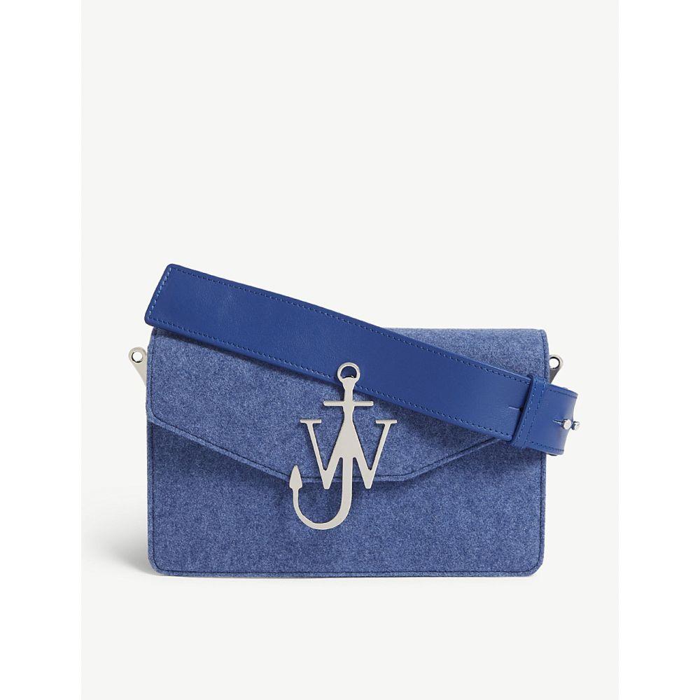 J.W.アンダーソン レディース バッグ ショルダーバッグ【logo wool felt and leather shoulder bag】Royal