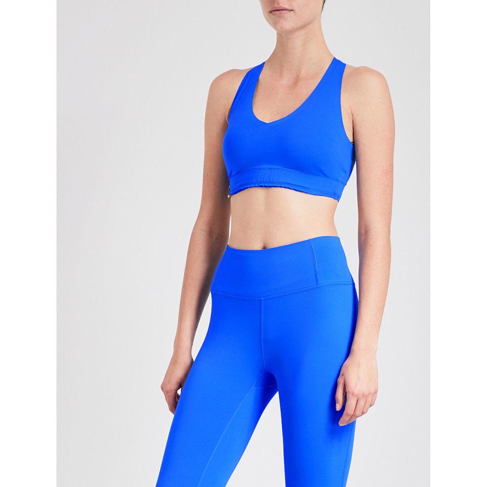 モンレアル ロンドン レディース インナー・下着 スポーツブラ【essential v stretch-jersey sports bra】Cobalt