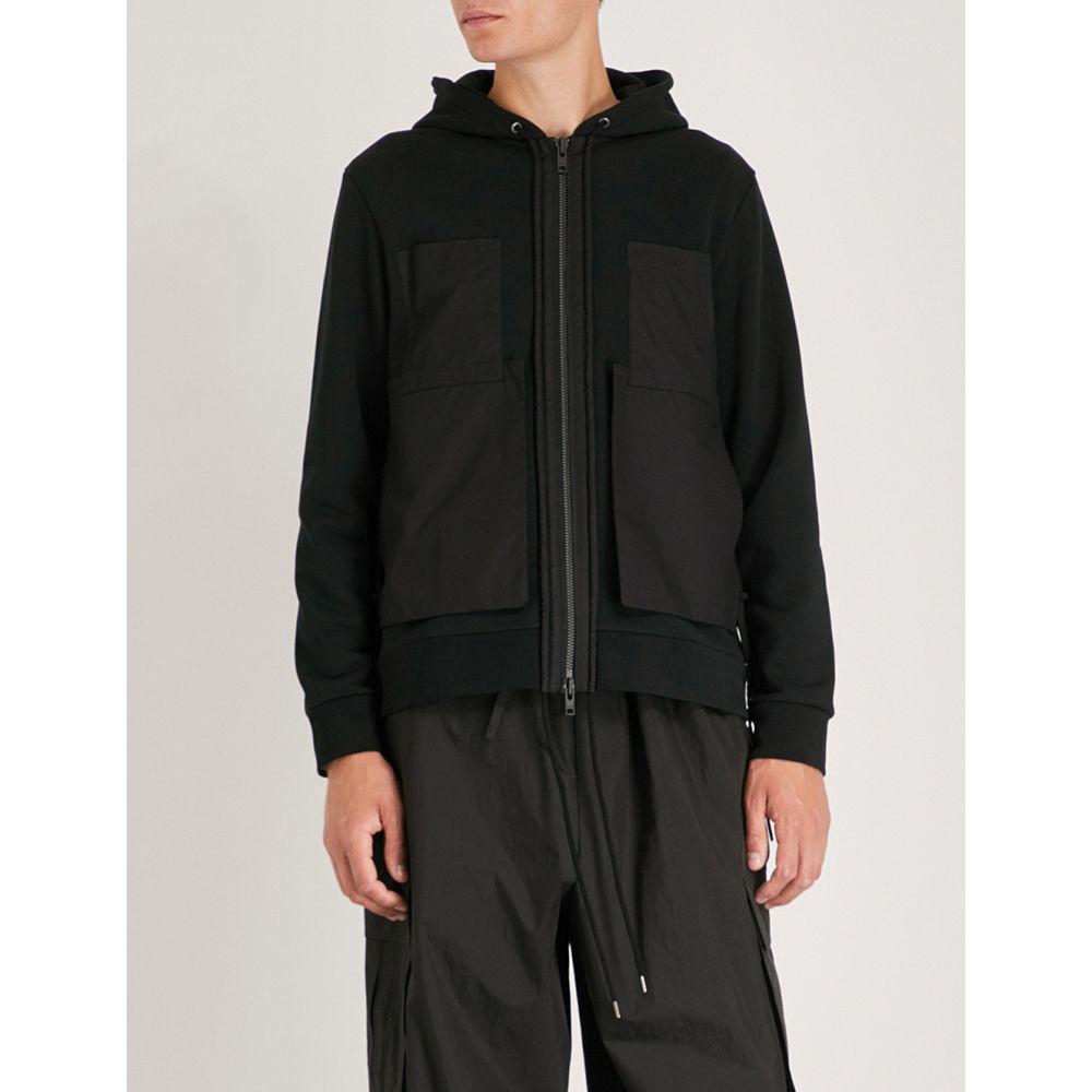 クレイググリーン メンズ トップス パーカー【string-detail cotton-jersey hoody】Black
