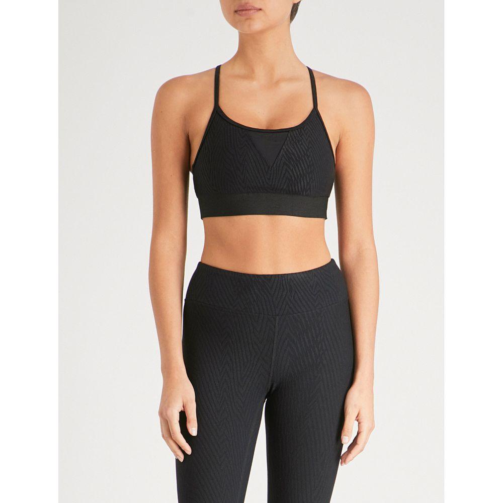 コラール レディース インナー・下着 スポーツブラ【trifecta pine jacquard stretch sports bra】Black