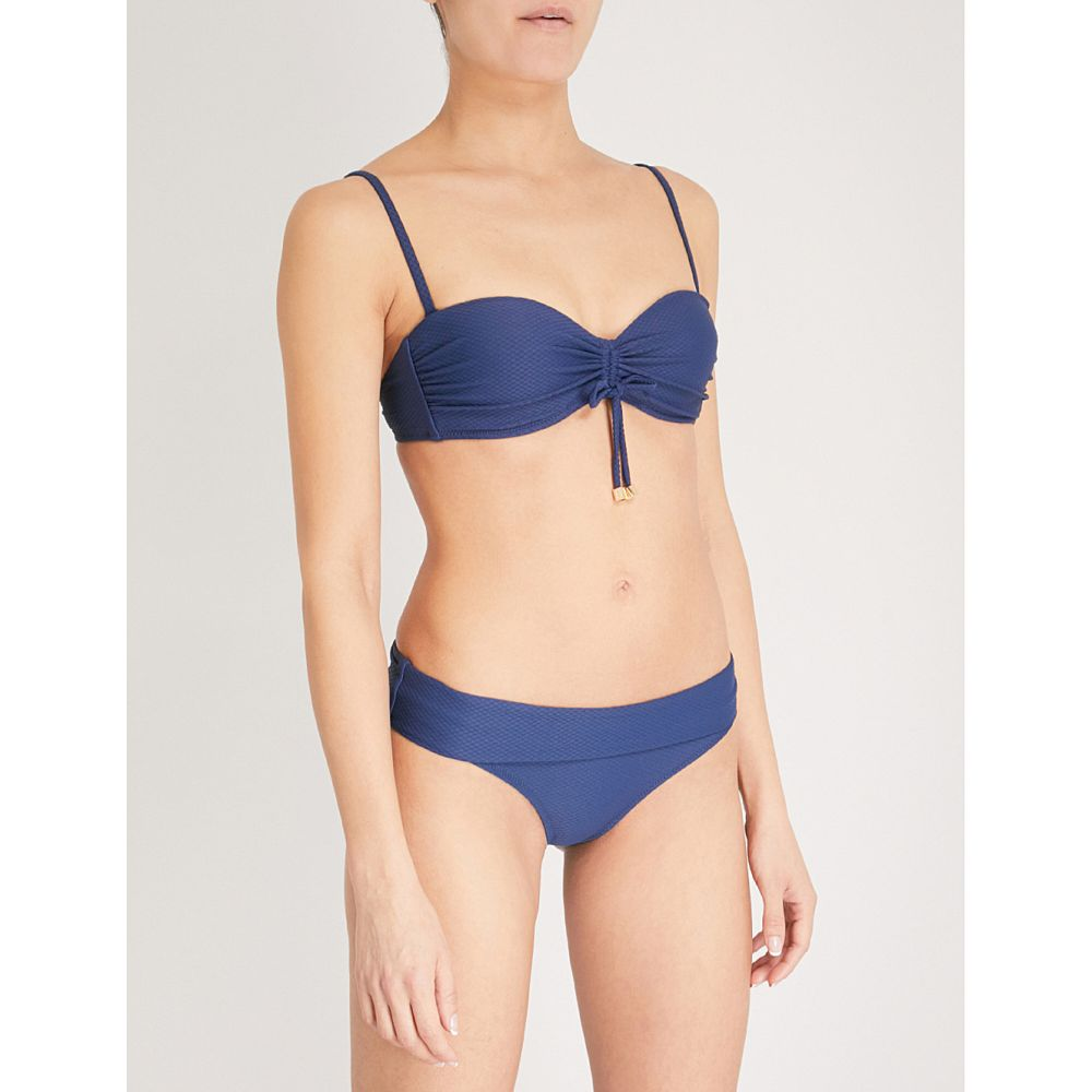 ハイジ クライン レディース 水着・ビーチウェア トップのみ【core textured bandeau bikini top】Navy