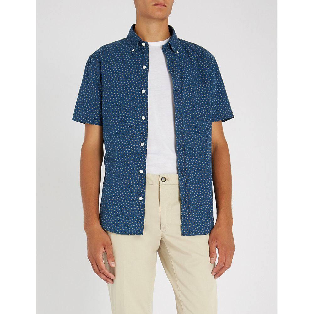 ラルフ ローレン メンズ トップス 半袖シャツ【star-print short-sleeved cotton shirt】pindot star