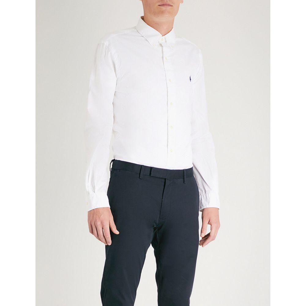 ラルフ ローレン メンズ トップス シャツ【slim-fit cotton shirt】White