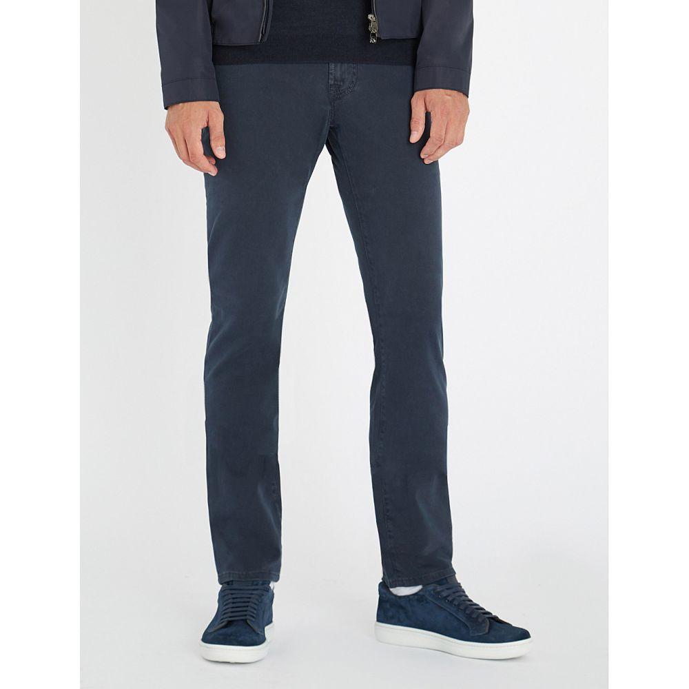 コルネリアーニ メンズ ボトムス・パンツ【regular-fit straight stretch-cotton trousers】Navy