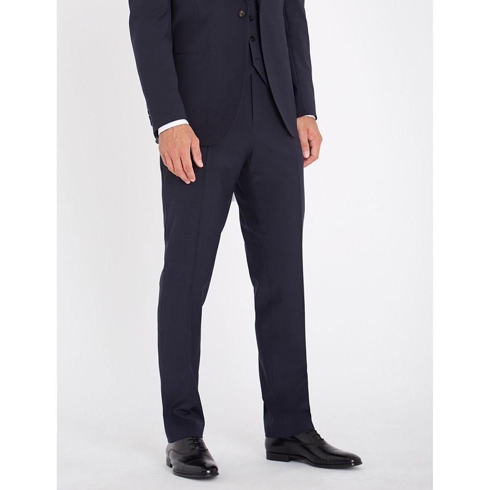 リース メンズ ボトムス・パンツ スラックス【belief modern-fit wool-blend trousers】Navy