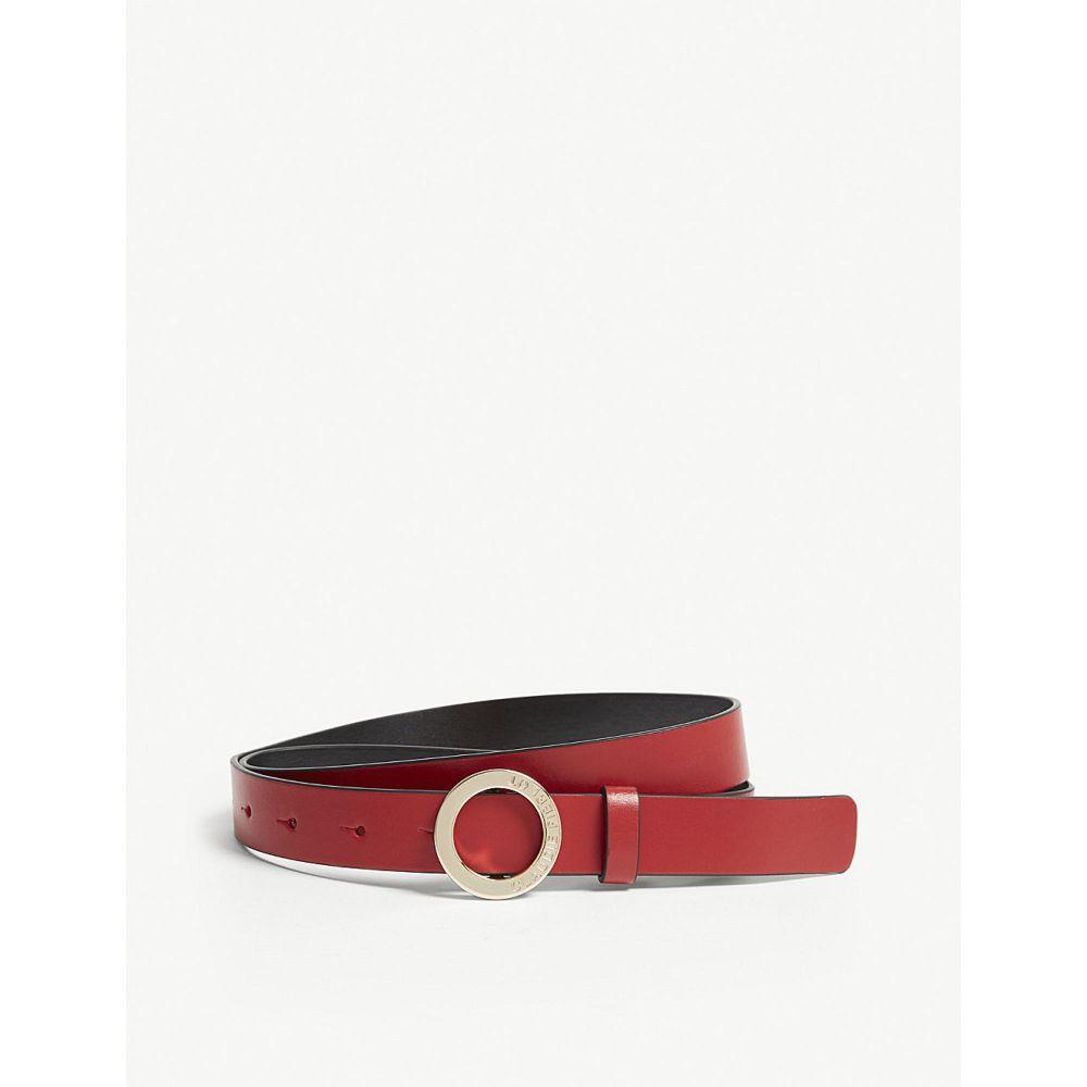 クローディ ピエルロ レディース ベルト【aligato slim leather belt】Rouge