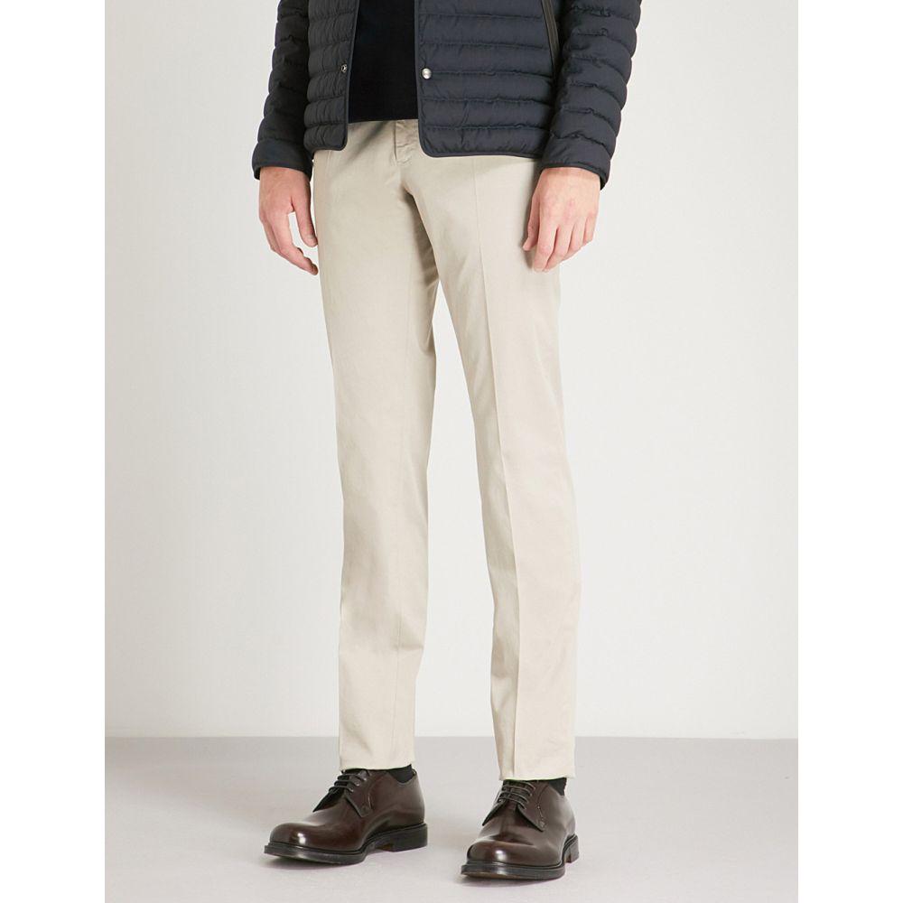 スローウエア メンズ ボトムス・パンツ スキニー・スリム【batavia slim-fit stretch-cotton trousers】Beige