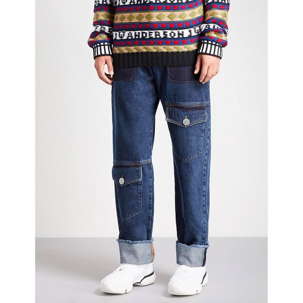J.W.アンダーソン メンズ ボトムス・パンツ ジーンズ・デニム【multi-pocket wide-fit straight jeans】Indigo