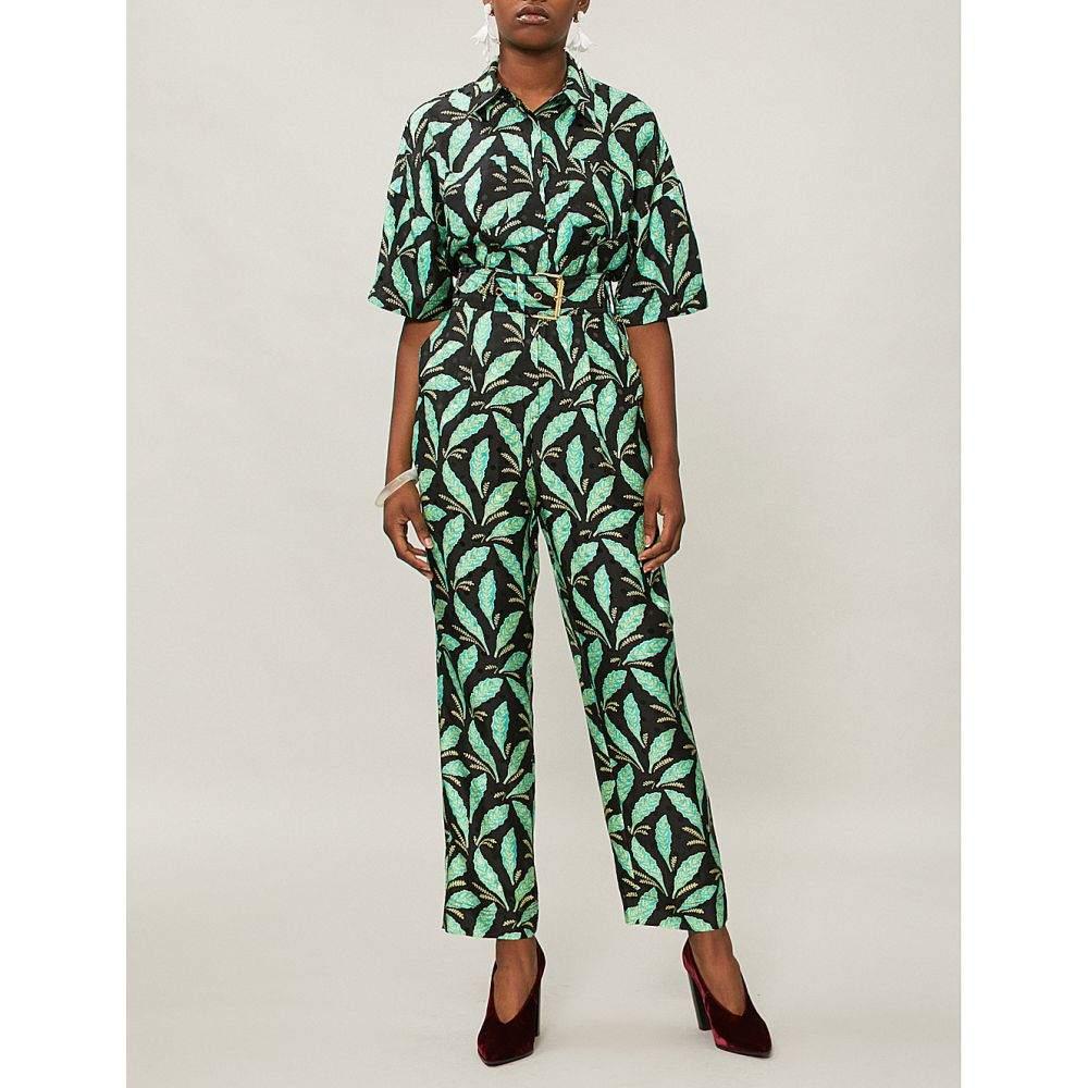 ダイアン フォン ファステンバーグ レディース ワンピース・ドレス オールインワン【paisley-print silk jumpsuit】Mason black