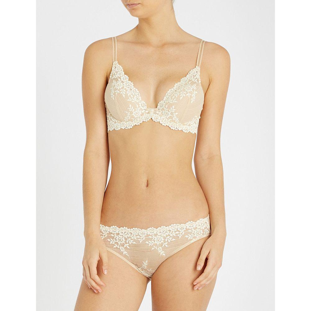 ワコール レディース インナー・下着 ブラジャーのみ【embrace lace stretch-lace plunge underwired bra】Nude ivory