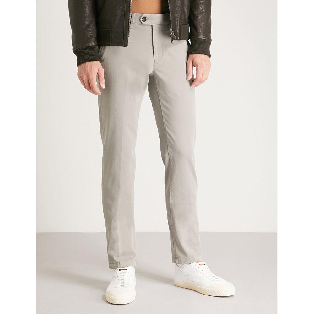 コルネリアーニ メンズ ボトムス・パンツ【regular-fit straight stretch-cotton trousers】Grey