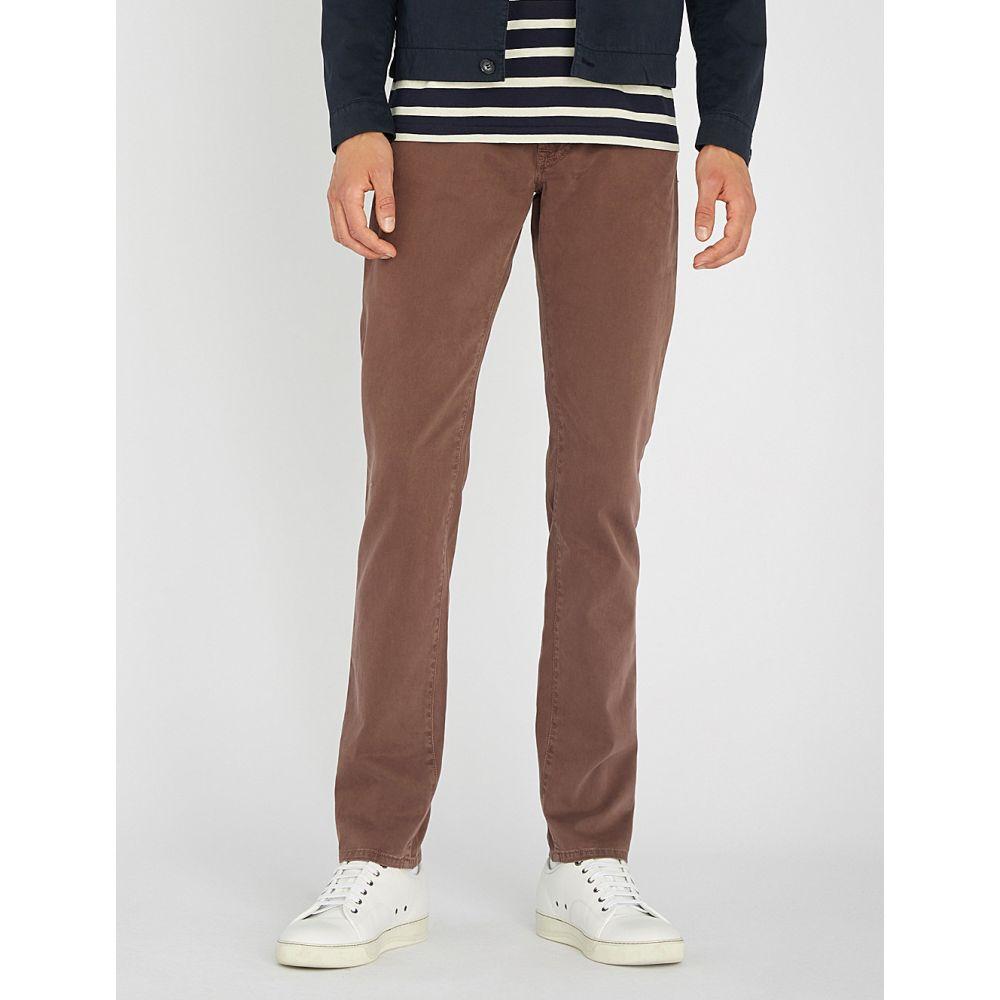 コルネリアーニ メンズ ボトムス・パンツ【regular-fit straight stretch-cotton trousers】Dark burgundy