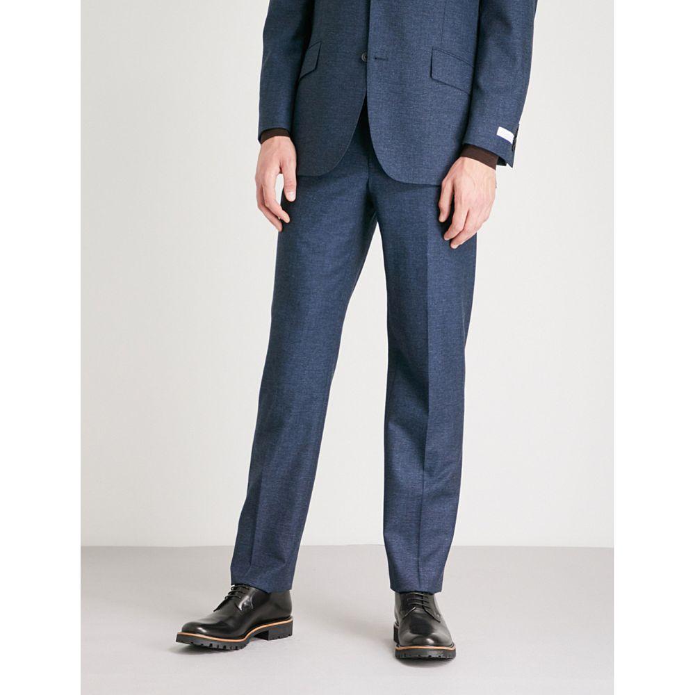 リチャード ジェームス メンズ ボトムス・パンツ スラックス【pindot-pattern wool and mohair-blend trousers】Blue
