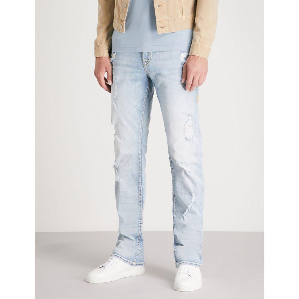 トゥルー レリジョン メンズ ボトムス・パンツ ジーンズ・デニム【ricky flap relaxed straight-fit straight jeans】Faol shockwave