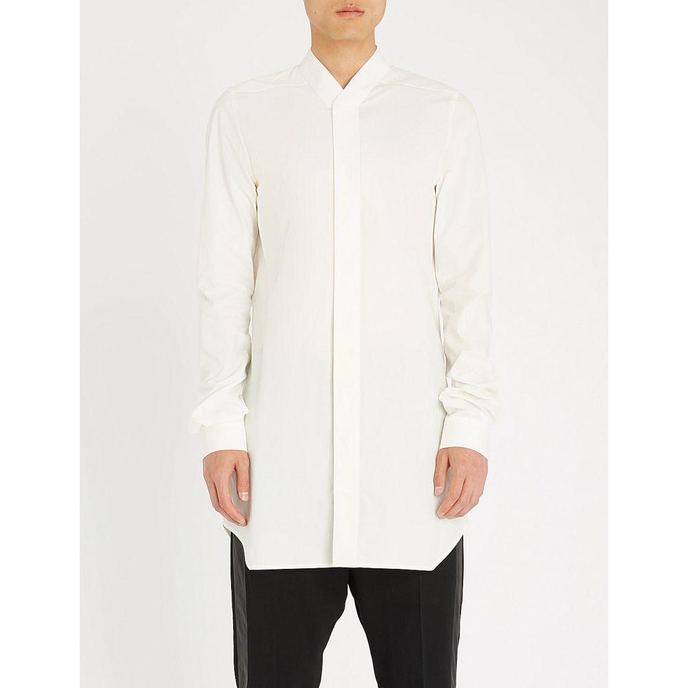 リック オウエンス メンズ トップス シャツ【longline cotton-poplin shirt】Milk