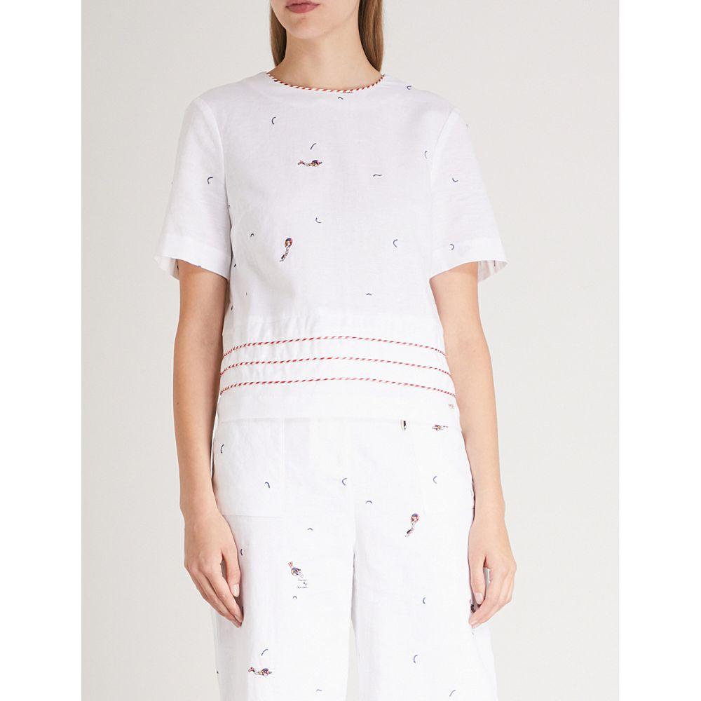 テッドベーカー レディース トップス【nolene linen and cotton-blend top】Ivory